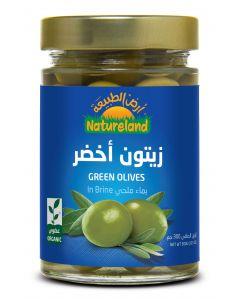 Natureland Green Olives In Brine 300g