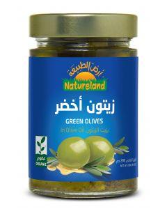 Natureland Green Olives In Olive Oil 280g