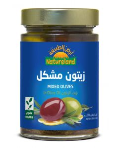 Natureland Mixed Olives In Olive Oil 280g