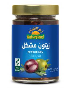 Natureland Mixed Olives Pitted 280g