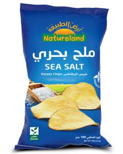 Natureland Potato Chips - Sea Salt 100g