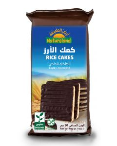 Natureland Rice Cakes - Dark Chocolate 90g