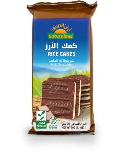 Natureland Rice Cakes - Milk Chocolate 90g