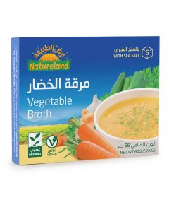 Natureland Vegetable Broth Cubes 66g