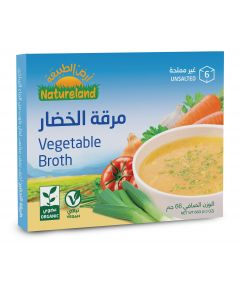 Natureland Vegetable Broth Cubes Unsalted 66g