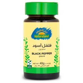 Natureland Black Pepper - Ground 40g