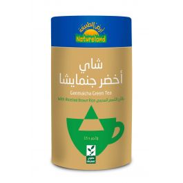 Natureland Genmaicha green Tea 15 Pyramid Bags