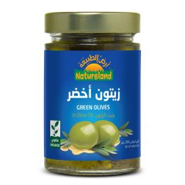 Natureland Green Olives In Olive Oil 280g