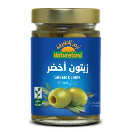Natureland Green Olives Pitted 280g