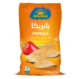 Natureland Potato Chips - Paprika 100g