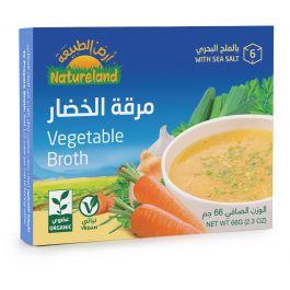 Natureland Vegetable Broth Cubes 66g