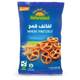 Natureland Wheat Pretzels 125g