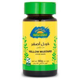 Natureland Yellow Mustard - Whole Seeds 60g
