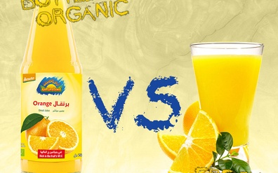 Is bottled organic juice better than a fresh non-organic juice?